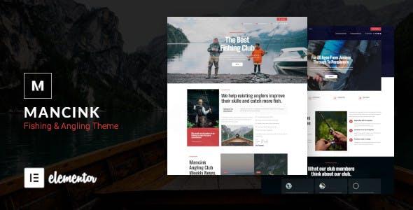 Mancink - Fishing & Angling Club WordPress Theme
