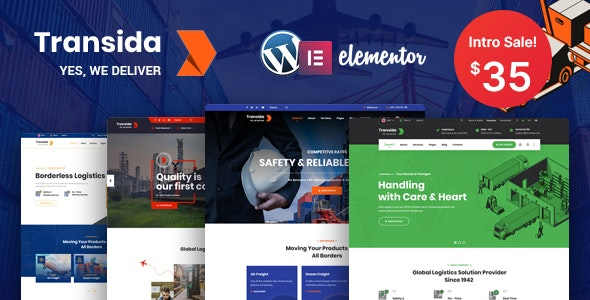 Transida - Logistics WordPress Theme - Business Corporate