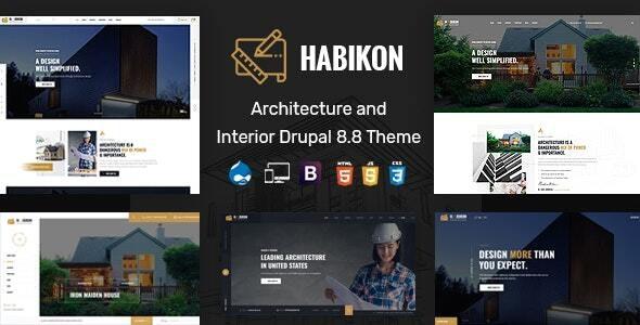 Habikon - Architecture & Interior Drupal 8.8 Theme - Business Corporate