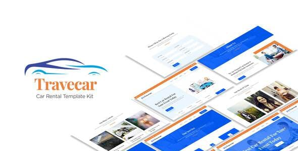 Travecar - Car Rental Elementor Template Kit