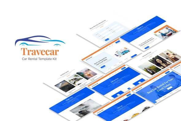 Travecar - Car Rental Elementor Template Kit - Automotive & Transportation Elementor