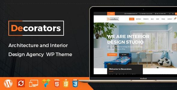 Decorators - WordPress Theme for Architecture & Modern Interior Design Studio - Business Corporate