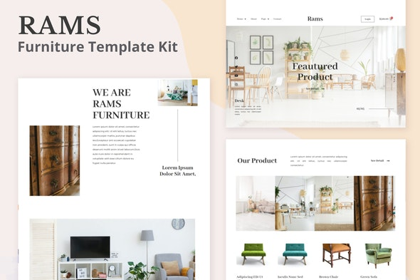 Rams - Furniture eCommerce Elementor Template Kit - Business & Services Elementor