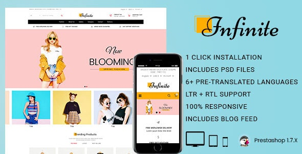 Infinite Fashion & Accessories Prestashop Theme - Fashion PrestaShop