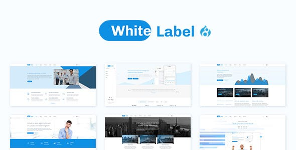 White Label - Clean Drupal 8.9 theme for Modern Web Businesses