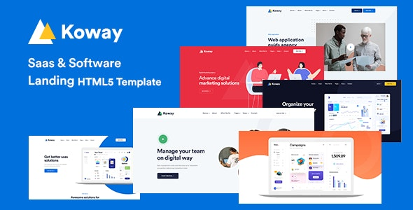Koway - Saas & Software Landing Page Template - Software Technology