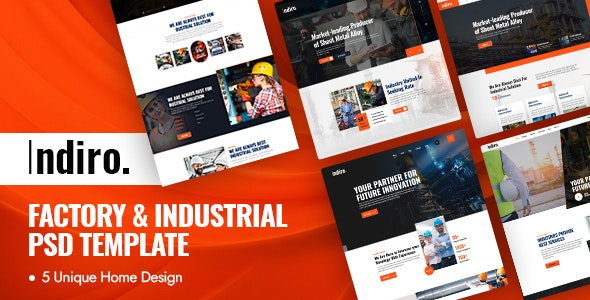 Indiro - Factory & Industrial PSD Template - Business Corporate