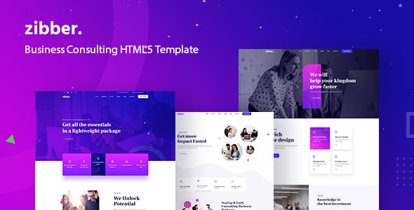 Zibber - Business Consulting HTML5 Template - Business Corporate