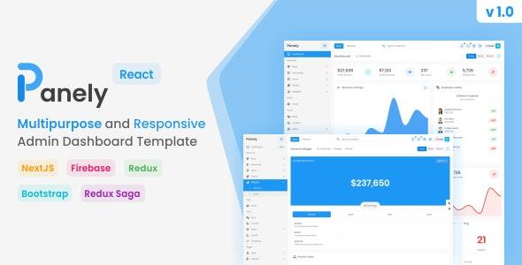 Panely - React Multipurpose Admin Dashboard Template - Admin Templates Site Templates