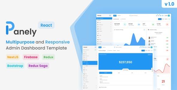 Panely - React Multipurpose Admin Dashboard Template
