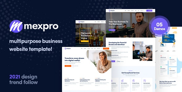Mexpro - Multipurpose Business HTML Template - Corporate Site Templates