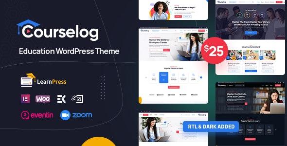 Courselog - Education WordPress Theme - Education WordPress