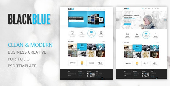 BlackBlue - Creative Portfolio PSD Template - Creative Photoshop