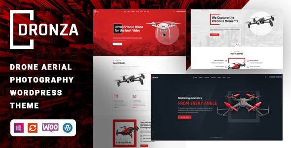 Dronza – Drone Aerial Photography WordPress Theme