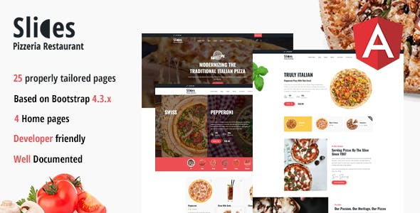 Slices - Pizzeria Restaurant Angular Template