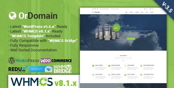 OrDomain | Responsive WHMCS Hosting WordPress Theme - Hosting Technology