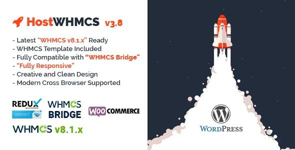 HostWHMCS | Responsive Hosting and WHMCS WordPress Theme