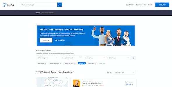 TaskBot - Freelancers and Jobs Market Place
