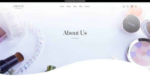 Amelie   Beauty Care eCommerce Figma Template