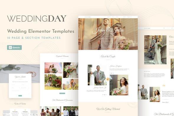 WeddingKit - Invite & Gallery Event Elementor Template Kit - Weddings Elementor