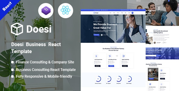 doesi - Business React Template - Site Templates