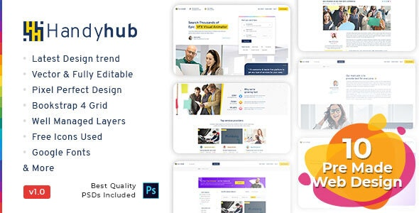 Handyhub - Service Finder Listing Template - Business Corporate