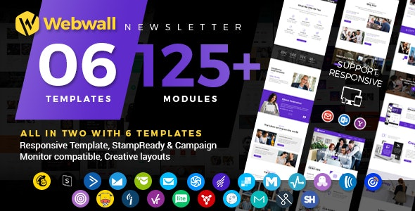 Webwall - Multipurpose Email Newsletter - Newsletters Email Templates