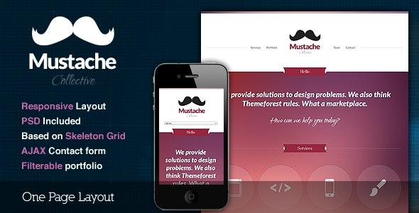 Mustache - Responsive One Page HTML Template - Portfolio Creative