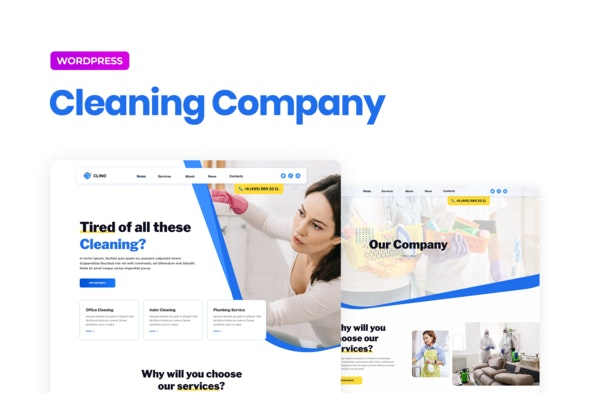 Clino – Cleaning Business Elementor Template Kit - Business & Services Elementor
