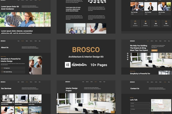 Brosco - Architecture & Interior Elementor Template Kit - Real Estate & Construction Elementor