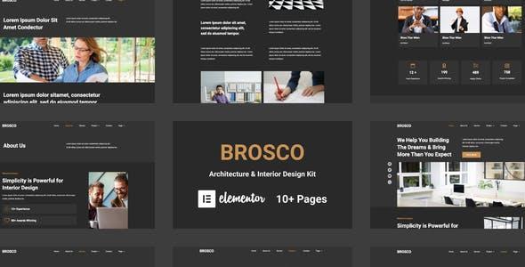 Brosco - Architecture & Interior Elementor Template Kit