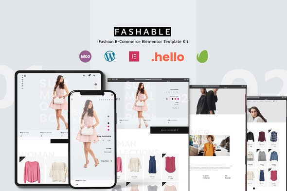 Fashable - Stylist eCommerce Elementor Template Kit - Shopping & eCommerce Elementor