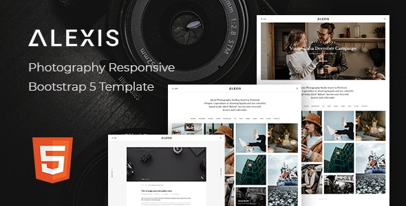 Alexis – Photography Responsive Bootstrap 5 Template - Photography Creative