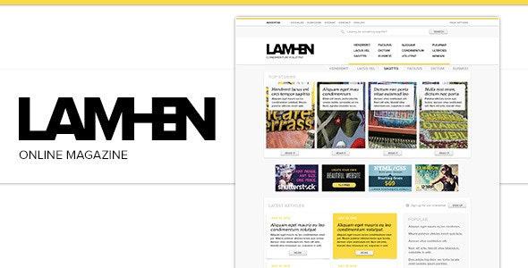 LAMHEN Online Magazine - Miscellaneous PSD Templates