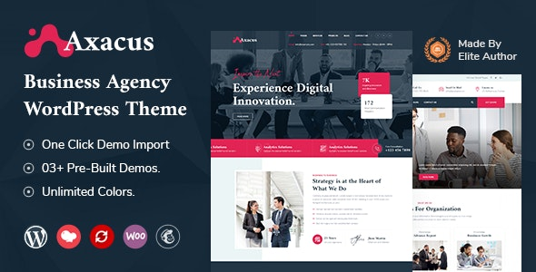 Axacus - Business Agency WordPress Theme - Business Corporate