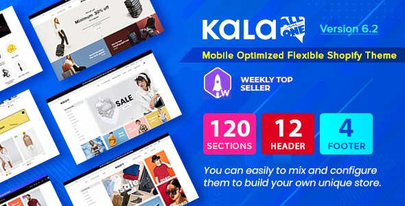 Kala | Customizable Shopify Theme - Flexible Sections Builder Mobile Optimized - Fashion Shopify