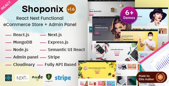 Shoponix - React Next eCommerce Store + Admin Panel