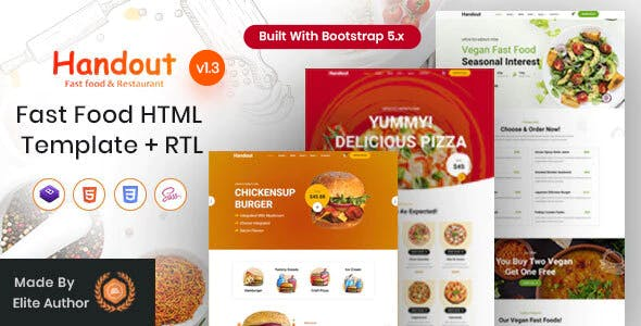 Handout - Fast Food Shop HTML Template