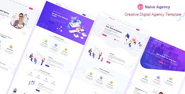 Naive Creative Digital Agency Template - Creative Site Templates