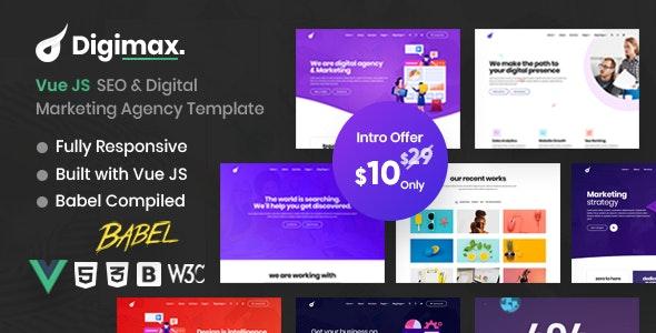 Digimax - Vue JS SEO & Digital Marketing Agency Template - Marketing Corporate