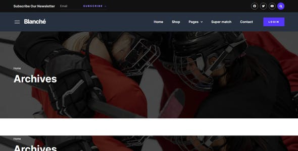 Blanche – Sports Blog & Magazine Elementor Template Kit