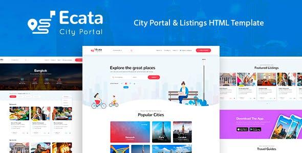 Ecata - City Guide HTML Template