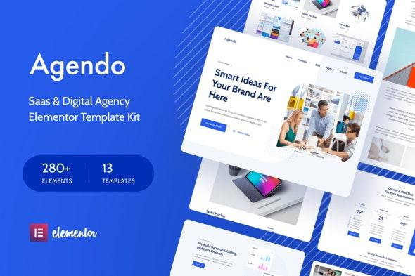Agendo - Digital Agency & Creative Elementor Template Kit - Business & Services Elementor
