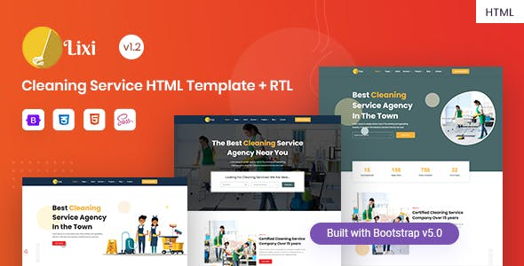 Lixi - Cleaning Service Company HTML Template