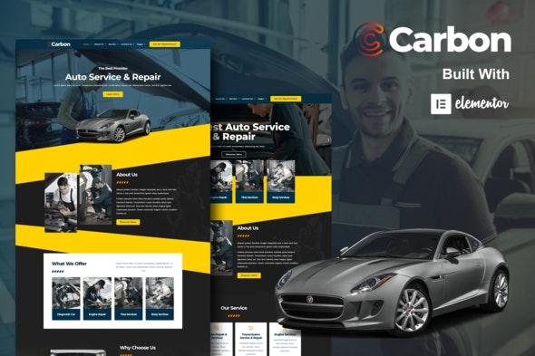 Carbon - Car Service Elementor Template Kit - Automotive & Transportation Elementor