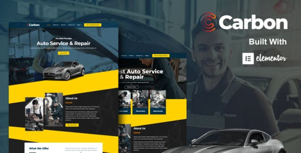 Carbon - Car Service Elementor Template Kit