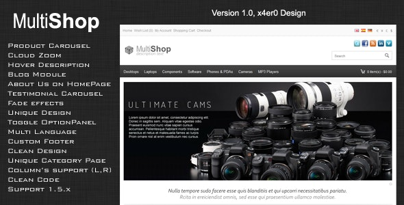 MultShop Premium OpenCart Theme - OpenCart eCommerce