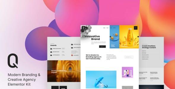 Qreato – Modern Branding & Creative Agency Elementor Kit