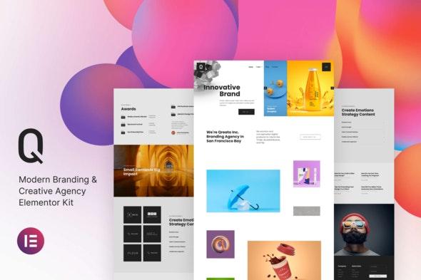 Qreato – Modern Branding & Creative Agency Elementor Kit - Creative & Design Elementor