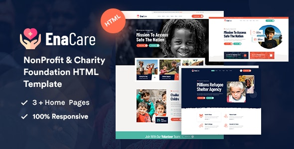 EnaCare - NonProfit & Charity Foundation HTML5 Template - Charity Nonprofit